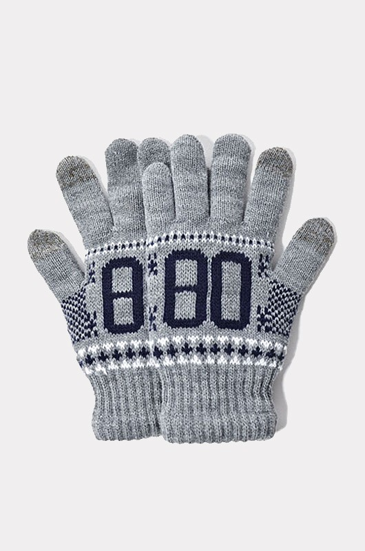 CRITIC80Knit Glove Grey