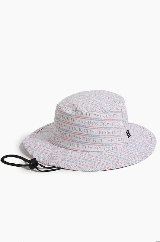 HUFFuck It Push Thru Jungle Hat White