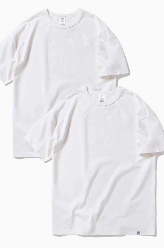 CRITIC 2 Pack Tee White/White