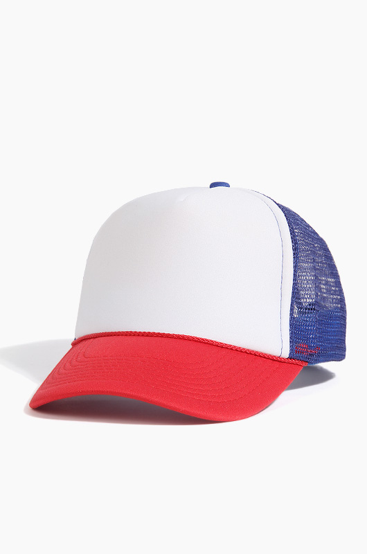 OTTO CAP  Mesh Cap White/R.Blue/Red