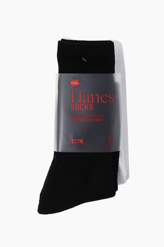 Hanes Basic Socks 2Pack White/Black