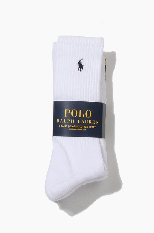 POLO Classic Cotton Sports Socks 3Pack White
