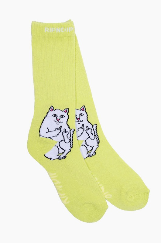 RIPNDIP Lord Nermal Socks Safety Green