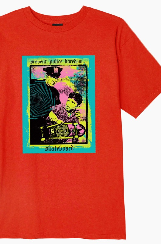 OBEY Prevent Police Boredom S/S Red