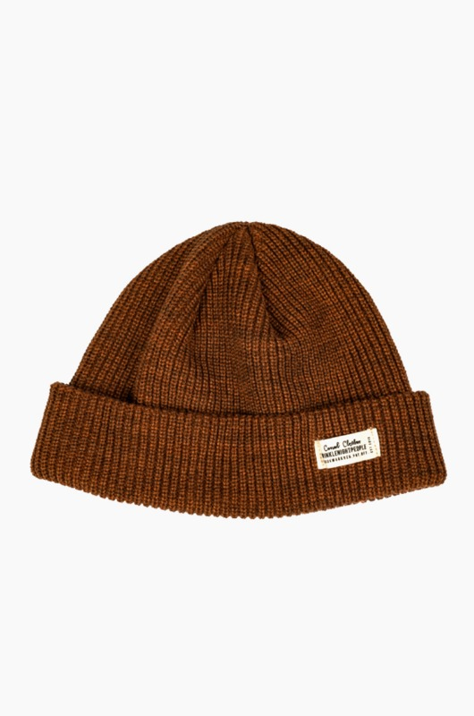 TNP WH Label Watch Cap Brown