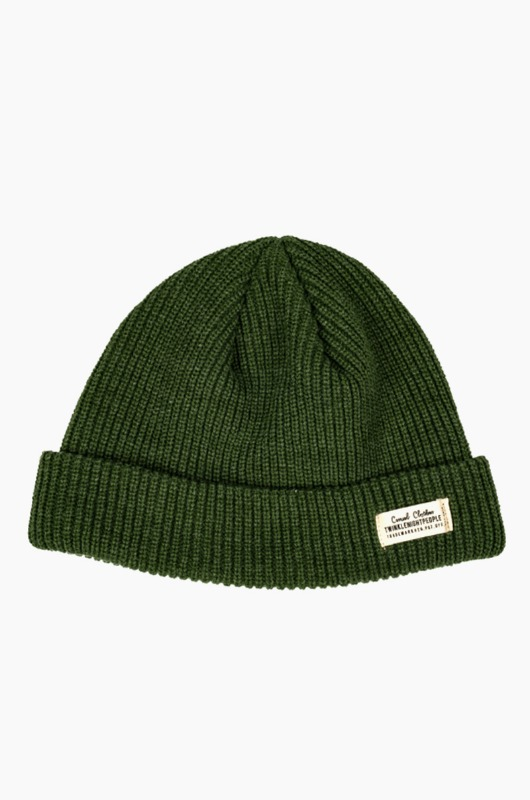 TNP WH Label Watch Cap Green