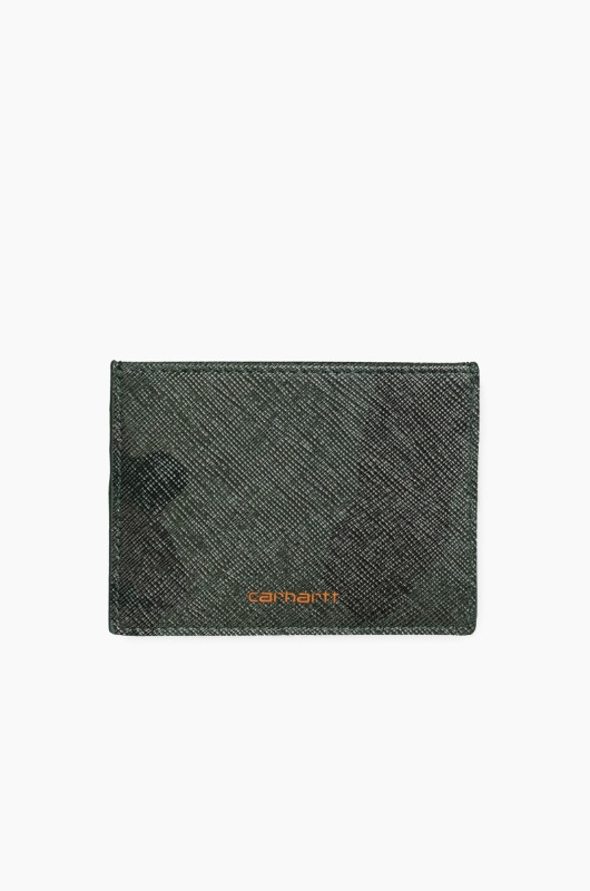 CARHARTT-WIP Coated Card Holder Camo/Orange