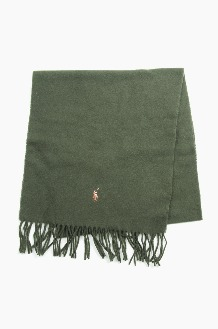 POLO Signature Italian Virgin Wool Scarf Olive