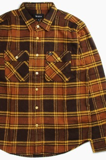 BRIXTON Bowery L/S Flannel Brown/Gold